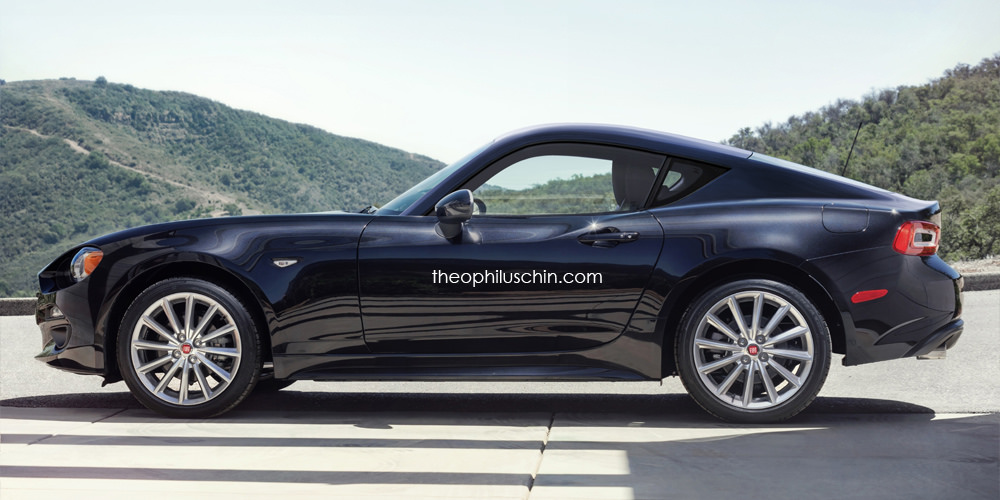 2018 Fiat 124 Coupe Render Revives Classic Nameplate