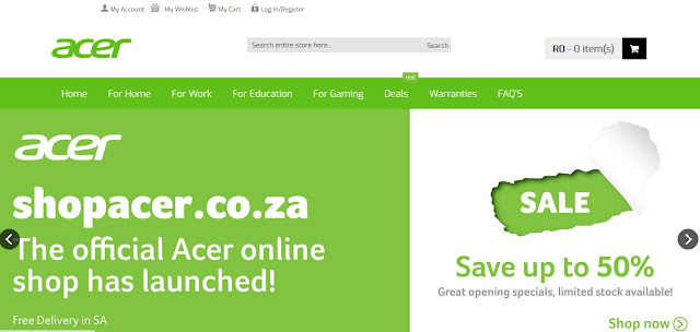 Website Review - www.ShopAcer.co.za #OnlineShopping @AcerAfrica #ShopAcer #SouthAfrica