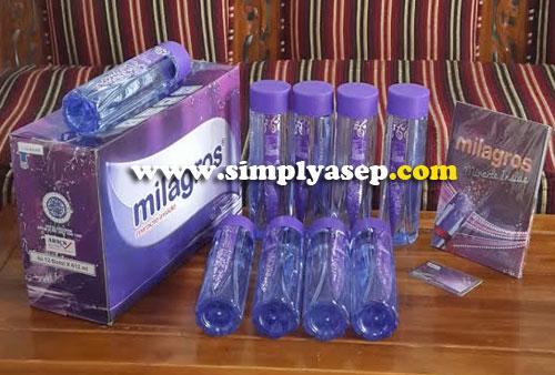 MILAGROS :  Saya jualan air Alkali Milagros.  Inilah produknya. Info lengkap tentang Milagros bisa didapatkan di blog ini atau bisa langsung berkunjung ke situs resmnya. Foto Asep Haryono