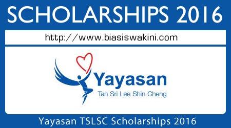Yayasan TSLSC Scholarships 2016