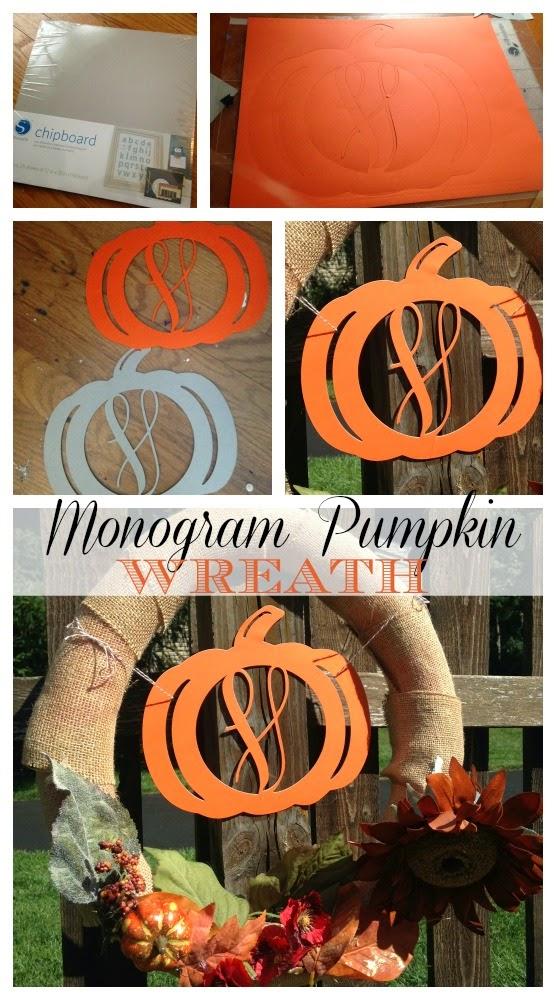 Monogram, pumpkin, Silhouette Studio, Silhouette tutorial
