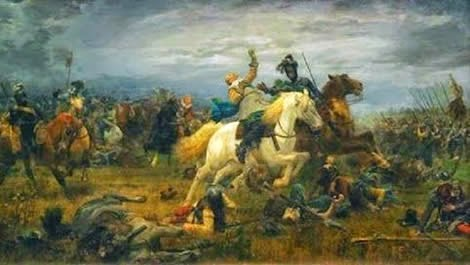 6 November 1632 - the Leu von Mitternacht, Gustavus Adolphus of Sweden, fell in the Battle of Lützen, 20 miles southwest of Leipzig