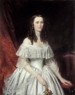 maksymilian piotrowski portret damy w białej sukni