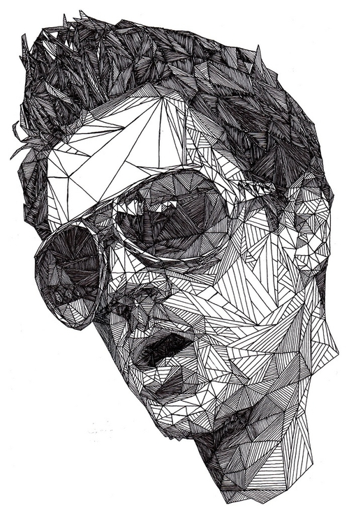 09-Johnny-Knoxville-Josh-Bryan-Monochromatic-Triangulation-Drawings-Portraits-www-designstack-co