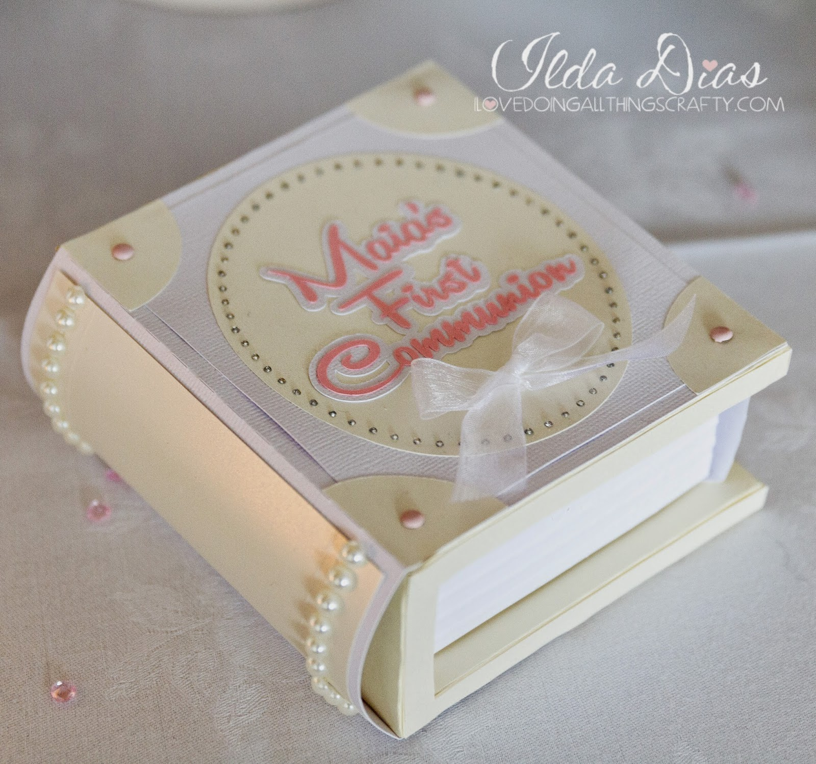 First Communion Day + DIY Decor, Paper Book Keepsake