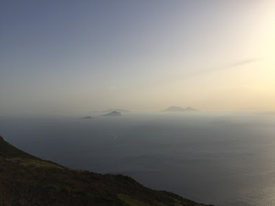 View south toward the other Aeolian Islands.