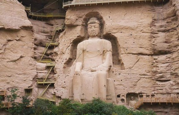 The Giant Maitreya Buddha of Binglíng Sì, China