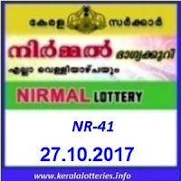 Nirmal  lottery result NR-41 on 27-10-2017