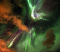 Cloudy Night of the Northern Lights