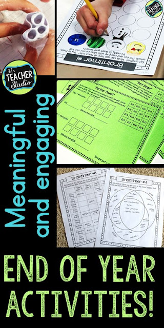 Finding meaningful and fun end-of-year activities for third grade, fourth grade, and fifth grade can be challenging. This blog post is full of engaging and meaningful activities to do in the last week of school. Low prep activities, easy to prep and fun for students. End of year math, end of year printables, end of year lessons, STEM activities