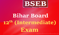 bihar board 12th time table 2018 - bseb inter exam routine