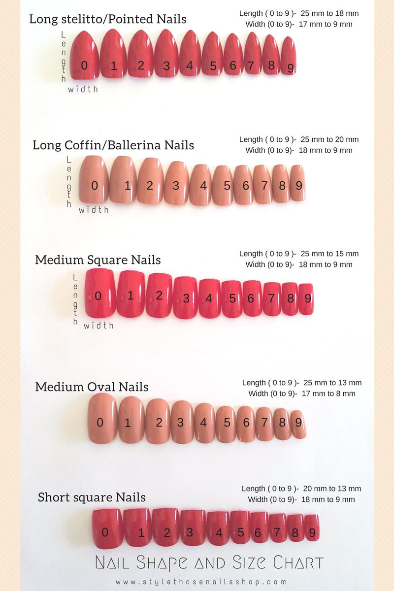 Nail Length Chart | Best Nail Designs 2018