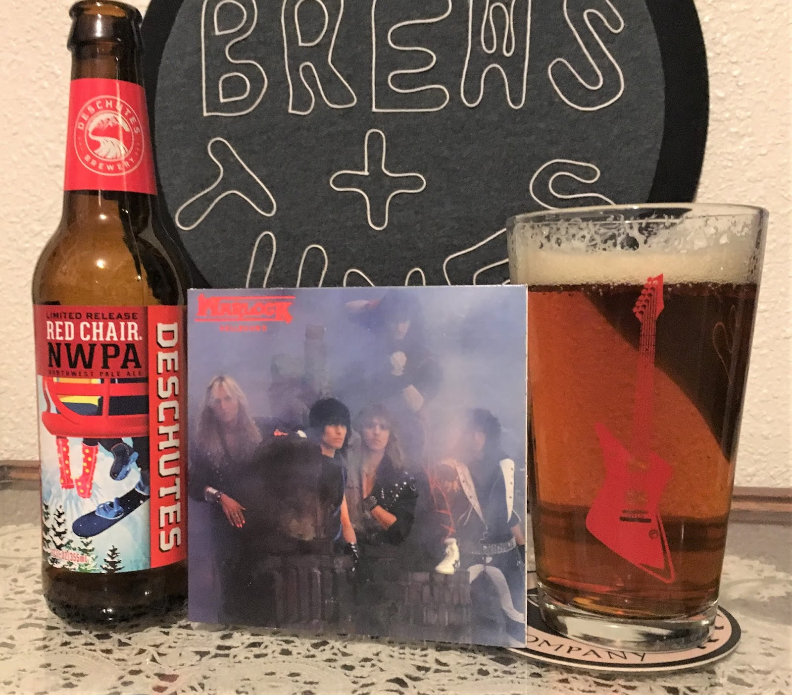red chair nwpa abv folding metal chairs brews and tunes beer music pairing december 28th 2018 the meista here today rocking out with a of warlock s sophomore album hellbound from deschutes brewing company