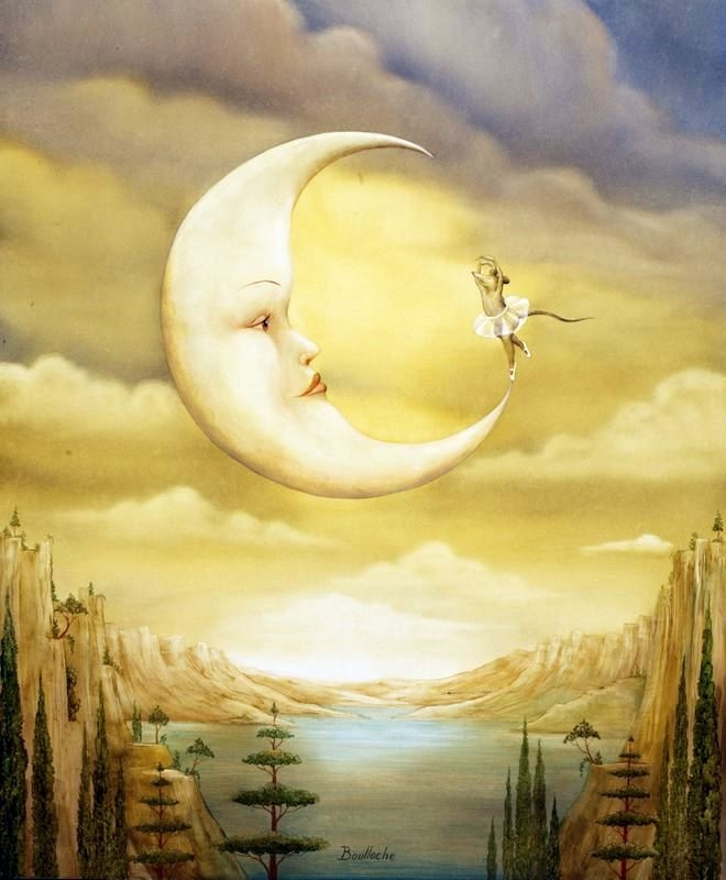 06-Danse-avec-la-Lune-Agnes-Boulloche-Paintings-that-Spill-over-into-the-World-of-Surrealism-www-designstack-co