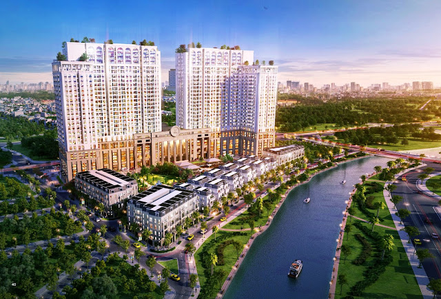 Phối cảnh dự án chung cư Roman Plaza Hải Phát