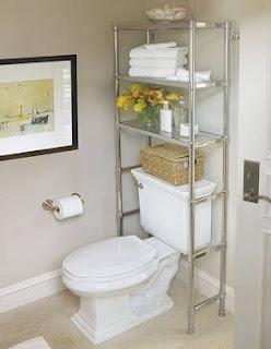 Estanterías baños pequeños
