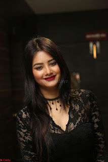 Actress Monica in spicy transparent Black Top at O Pilla Nee Valla Movie Audio Launch Feb 2017 009.JPG