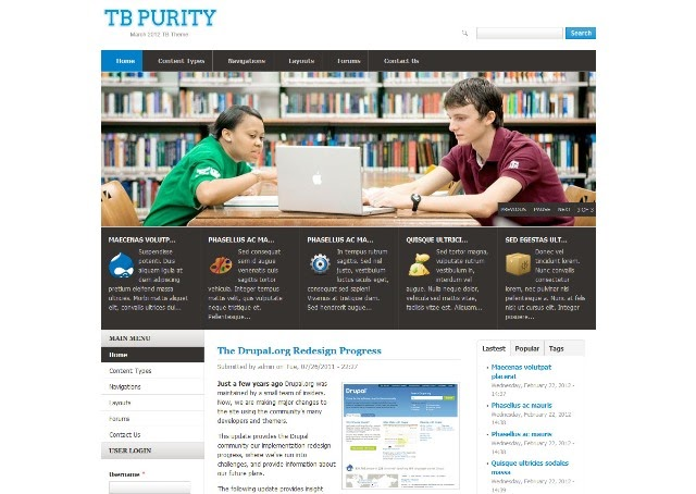 TB Purity Free Drupal Theme