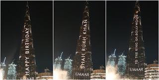 بالفيديو :برج خليفة يحتفل بعيد ميلاد شاروخان الـ54