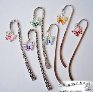 segnalibro metallo charm farfalle