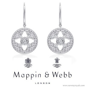Kate Middleton accessorised with her Mappin & Webb Empress earrings