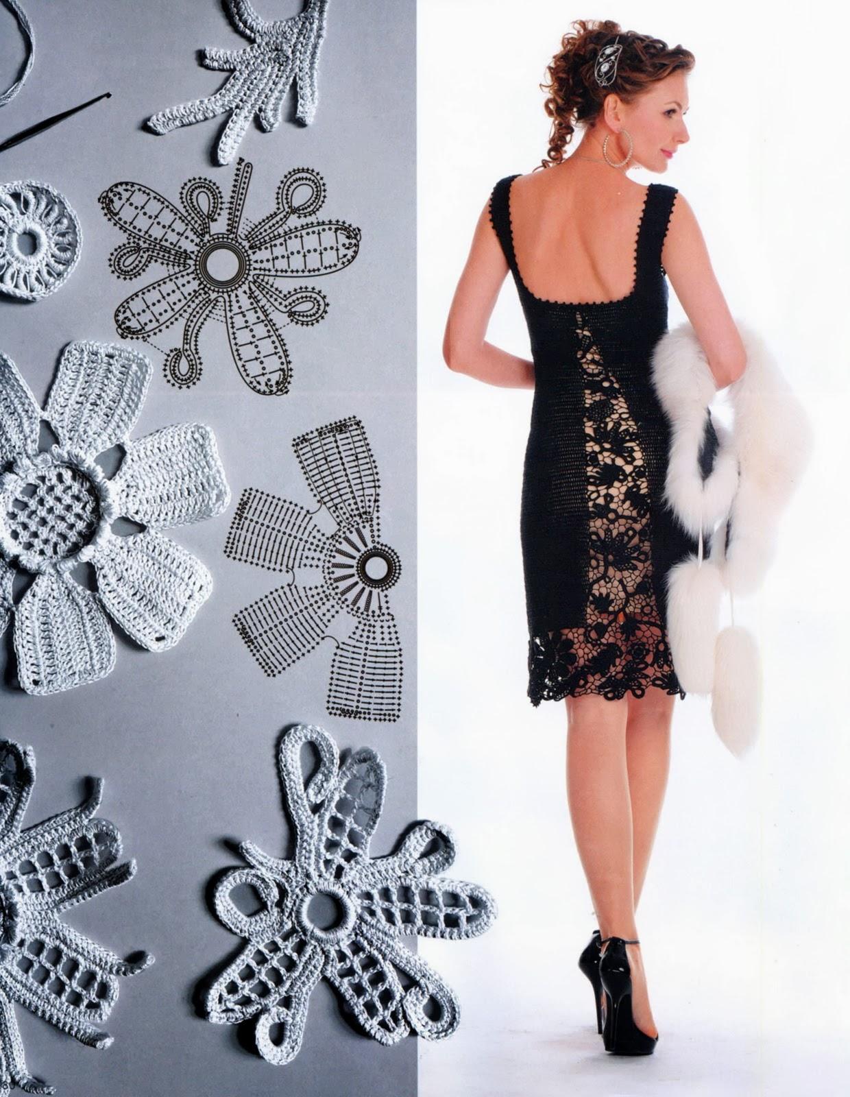 b3b1de73e5502 TRICO y CROCHET-madona-mía  Vestidos para mujeres a Crochet Ruso ...