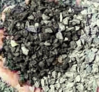 Lignite and coal in concrete aggregate