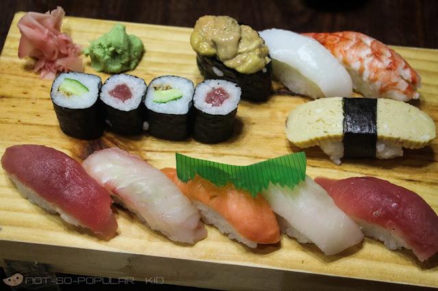 Nigirisushi Set: Variety of Sushi in Nihonbashi Tei