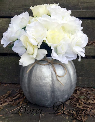 DIY crafts tutorial how to make a upcycled paper mache pumpkin vase or container.