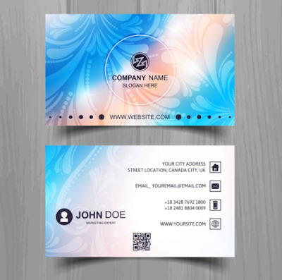 Kartu Nama - Beautiful Business Card With Color Effects
