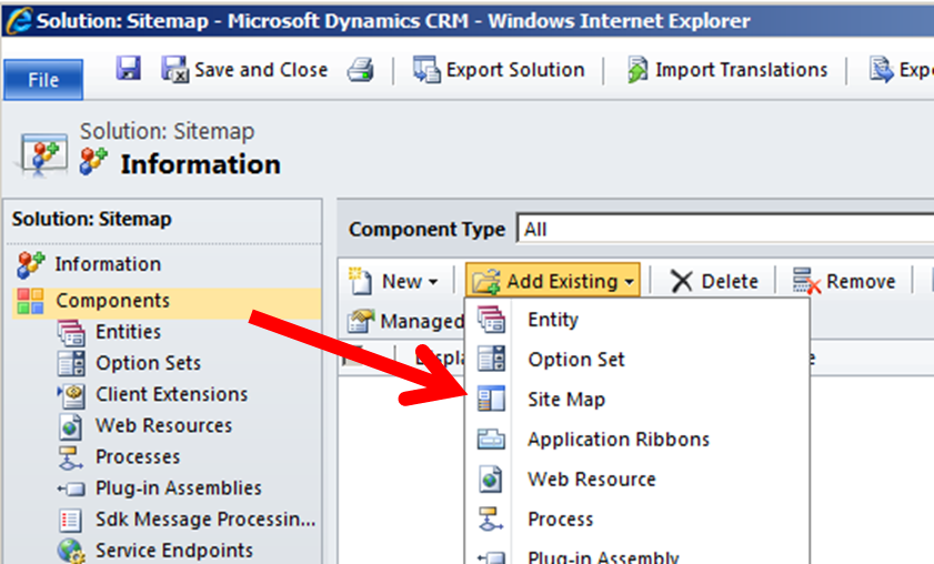 Microsoft Dynamics CRM 2015: How To Edit The Sitemap In