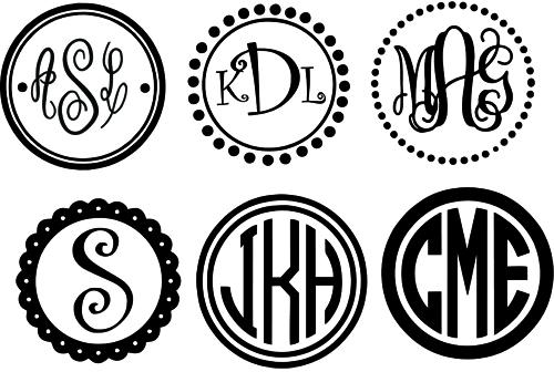 circle monogram frames with 10 monogram svg silhouette cricut downloads sale - Monogram Frame