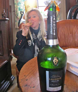 Pat Dunlap Tasting Champagne France