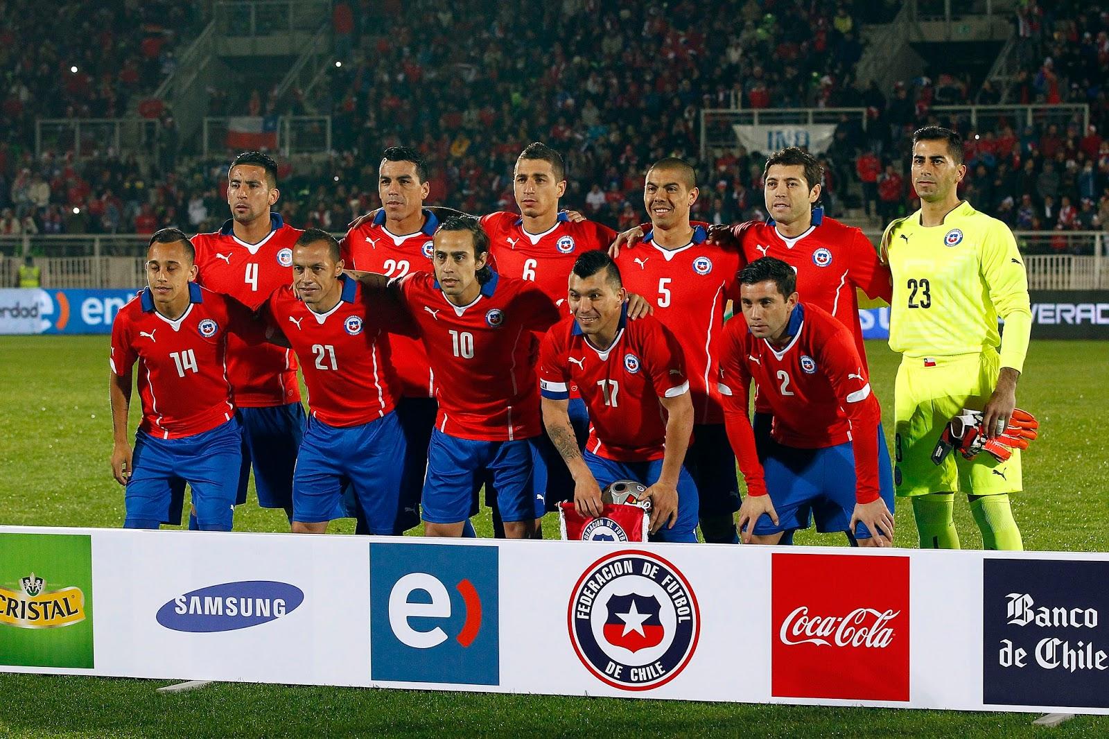 Formación de Chile ante Irlanda del Norte, amistoso disputado el 4 de junio de 2014