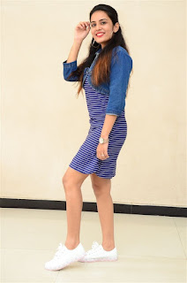 Shree Gopika Hot Leggy Pics in Blue Dress