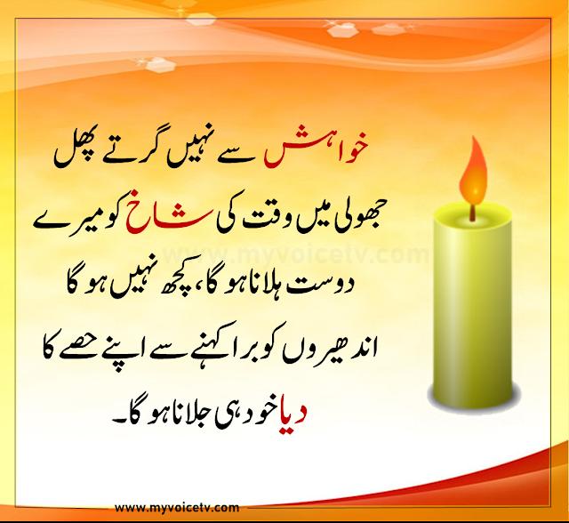 👍  #Urduquotes #Islamicquotes #Quoteoftheday  -Khwahish say nahi girtay phal jholi main..