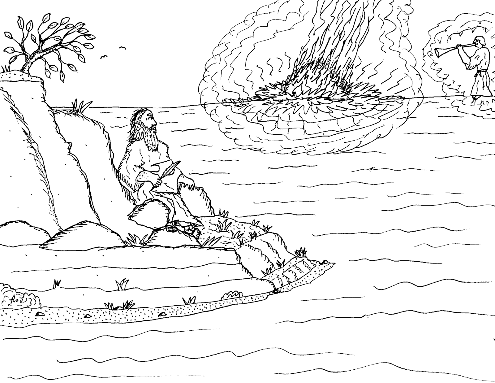 Robin's Great Coloring Pages: The Three Nephites