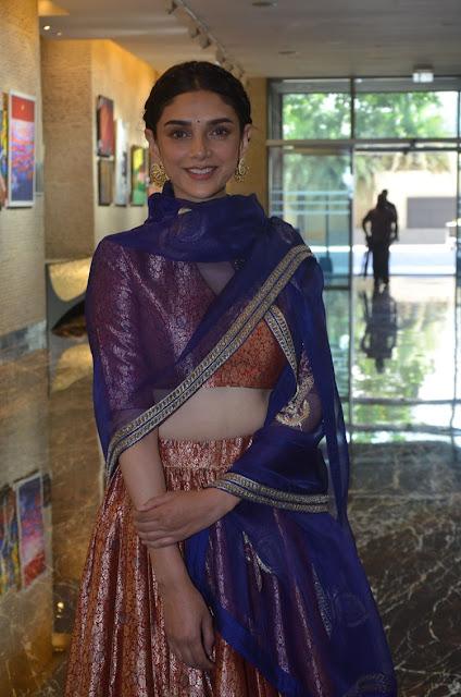 Aditi Rao Hydari Stills at Cheliyaa Telugu movie Audio Launch