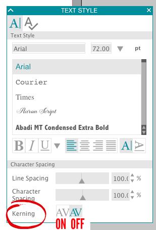 Silhouette studio text tutorial, silhouette studio fonts, silhouette studio character spacing