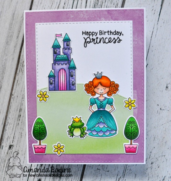 Princess Card by Amanda Bodine | Once Upon a Princess stamp set by Newton's Nook Designs #newtonsnook #princess #handmade