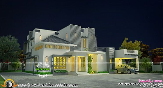 2336 sq-ft modern beautiful house