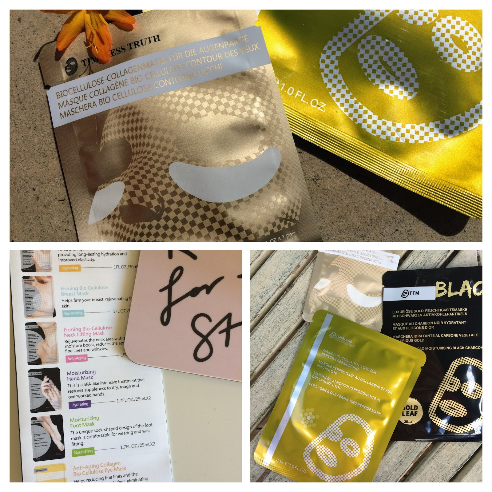 Timeless Truth Partial mask bio cellulose collagen eye mask