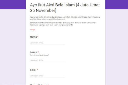 Waspada! Jika Temui Form Seperti Ini, Bisa Jadi Intelijen Sedang Kumpulkan Data Umat Islam