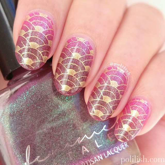 Thermal polish nail art with Femme Fatale Cosmetics Whispers of Velvet | polilish