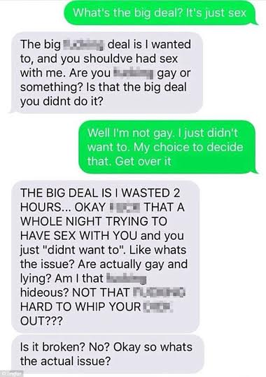 2 Photos: Woman abuses man for not sleeping with her after their first date