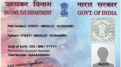 pan card demo. Indian pan card demo