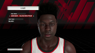 MyPLAYER Hairstyle Mohawk Bleached Fade