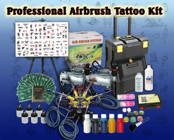 Airbrush tattoo kit 2016 tattoo yakuza japanese for Airbrush tattoo kit