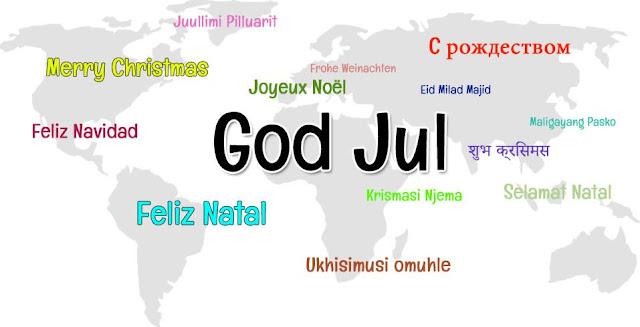 god jul på olika språk bilder