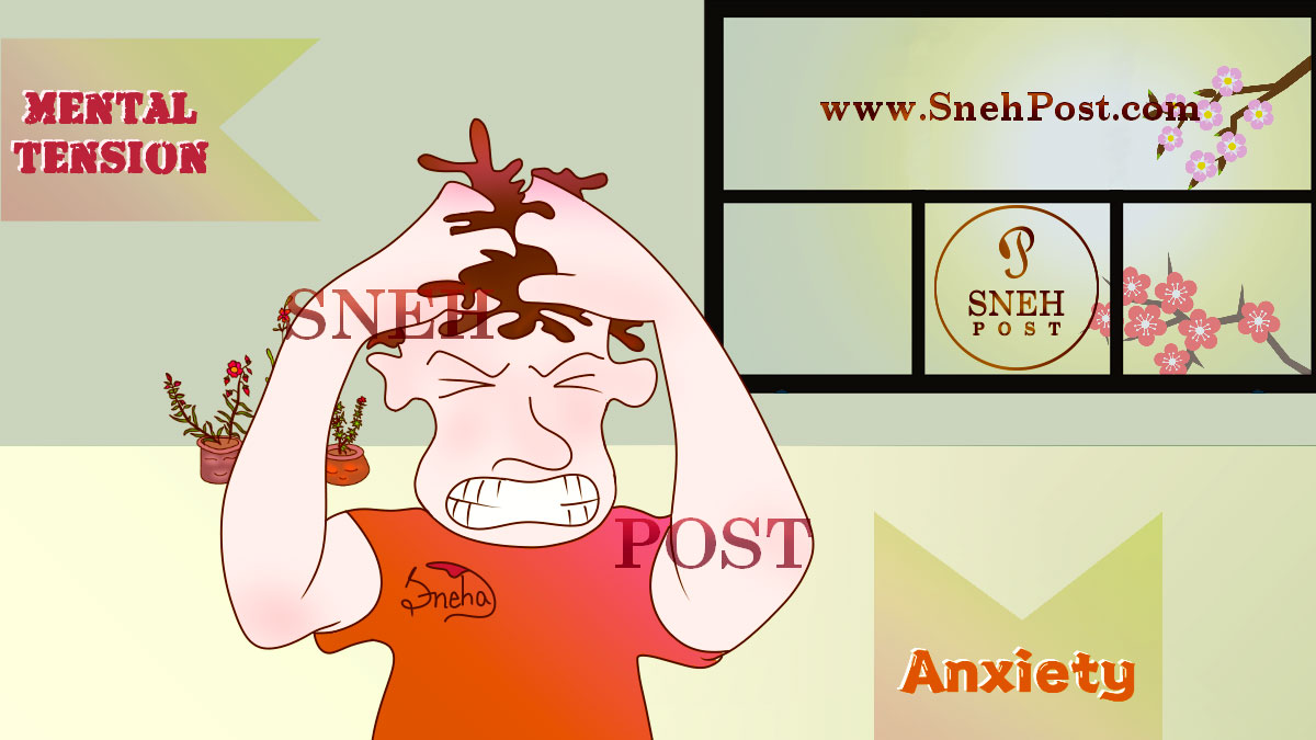 Skipping meals causes anxiety, anger, bad temper, depression and drained feeling: A man in orange t-shirt pulling is hair out and scratching head in anger while gnashing the teeth and looking angry, messy, and disheveled in appearance